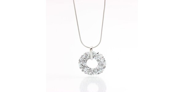 Dámsky náhrdelník s príveskom s kryštálikmi Laura Bruni