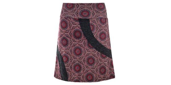 Dámska fialová vzorovaná sukňa Purple Jam