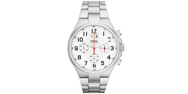 Pánske oceľové hodinky Fossil s chronografom