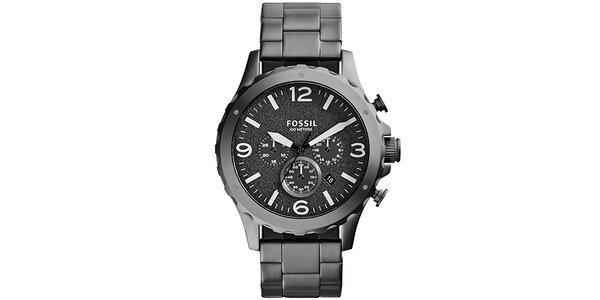 Pánske šedé analógové hodinky Fossil