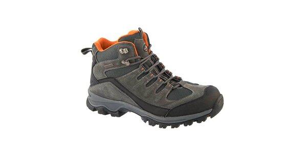 Pánske šedé outdoorové topánky Crosby