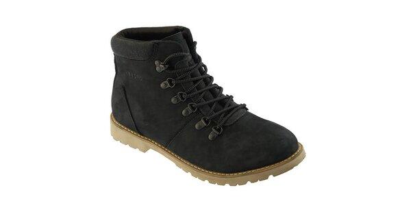 Pánske čierne topánky so šnurovaním Crosby