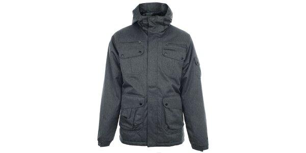Pánska funkčná šedá bunda s kapucňou Fundango