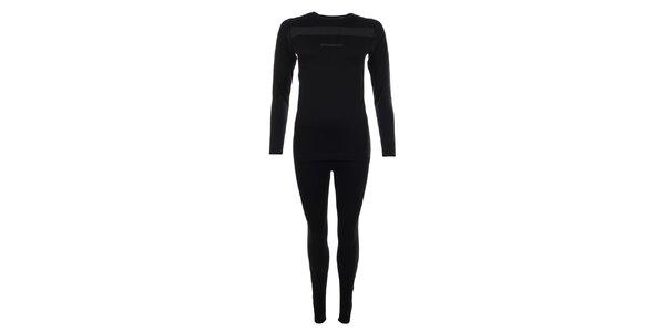 Set čiernej termo bielizne Fundango - tričko a nohavice