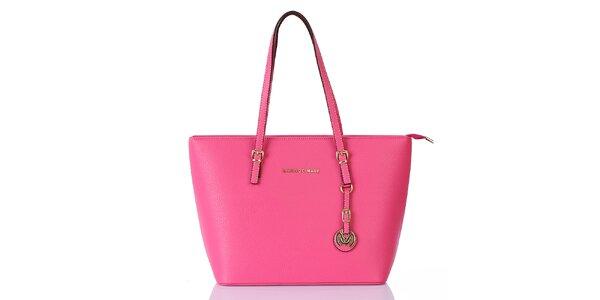 Dámska sýto ružová kabelka s príveskom Giorgio di Mare