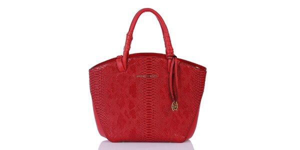 Dámska červená vzorovaná kabelka Giorgio di Mare
