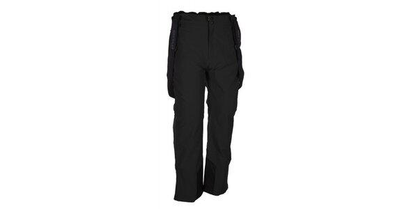 Pánske čierne lyžiarske nohavice s trakmi Envy