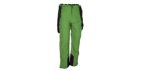 Pánske zelené lyžiarske nohavice s trakmi Envy