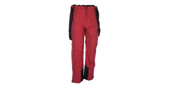 Pánske červené lyžiarske nohavice s trakmi Envy