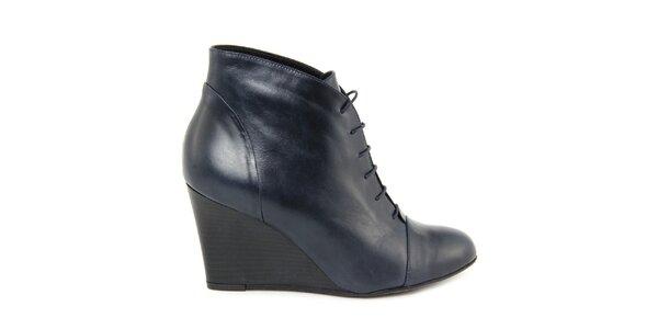 Dámske modré členkové topánky na kline Eye