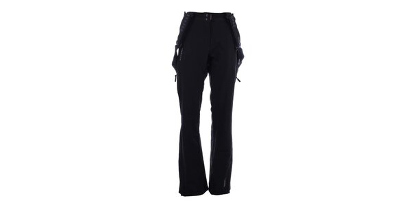 Dámske čierne softshellové lyžiarske nohavice Envy