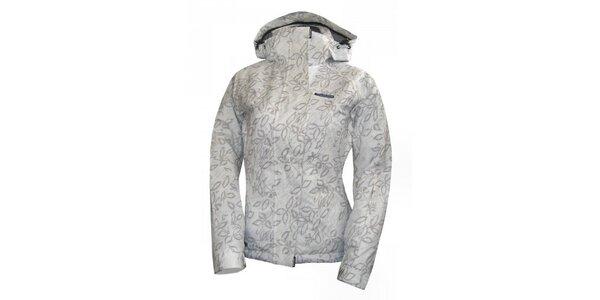 Dámska biela lyžiarska bunda so šedou potlačou Envy