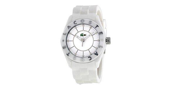 Dámske biele hodinky so silikónovým remienkom Lacoste