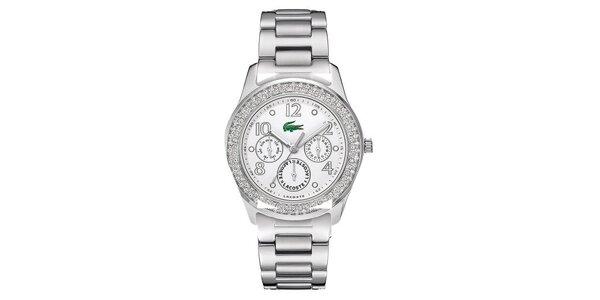 Dámske hodinky s ozdobenou lunetou Lacoste