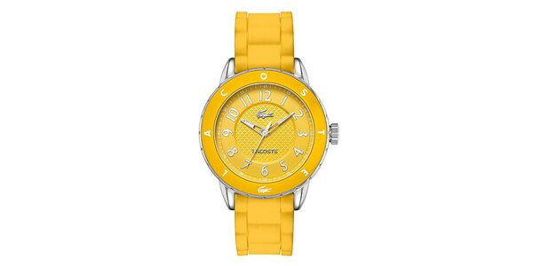 Dámske žlté hodinky Lacoste