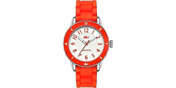 Dámske červené hodinky Lacoste