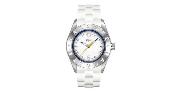 Dámske analógové hodinky s bielym remienkom Lacoste