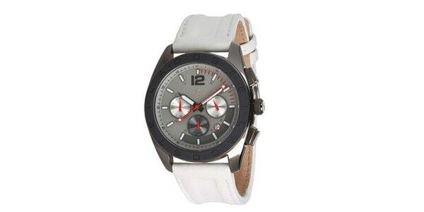 Pánske analógové hodinky s bielym remienkom Lacoste