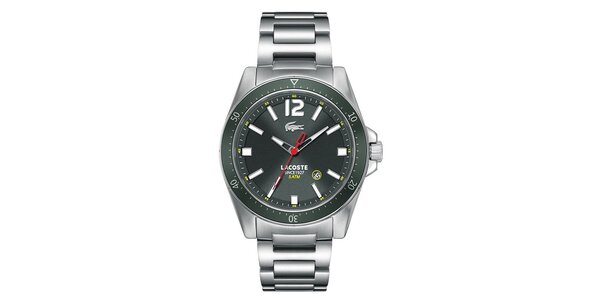 Pánske oceľové hodinky s tmavým ciferníkom Lacoste