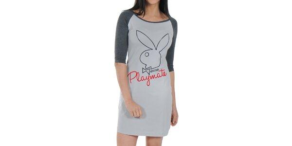 Dámska šedá nočná košeľa Playboy