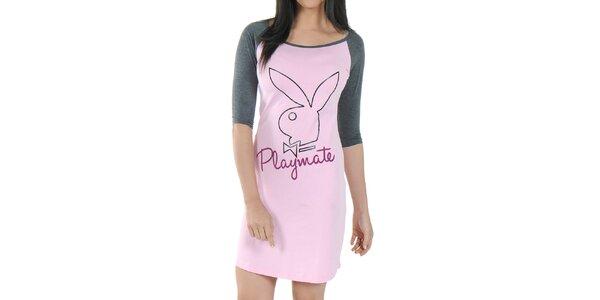 Dámska ružová nočná košeľa Playboy