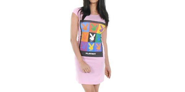 Dámska nočná košeľa Playboy - ružová