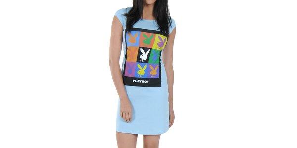 Dámska nočná košeľa Playboy - svetlo modrá