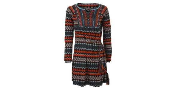 Dámske šaty s aztéckym vzorom Sugar Crisp
