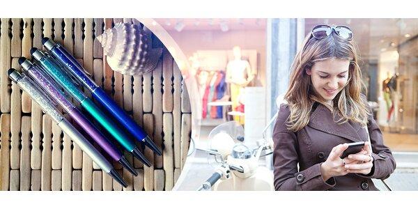Dotykové kryštálové pero so Swarovski Elements - balenie 2ks