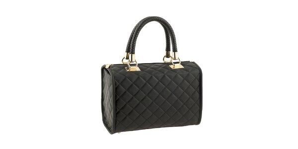 Dámska čierna kabelka s prešívaním Classe Regina