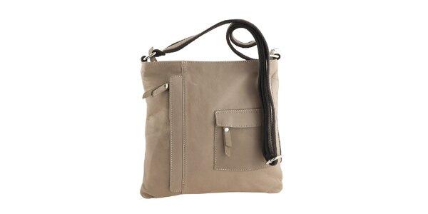 Dámska béžová kabelka s vonkajším vreckom Classe Regina