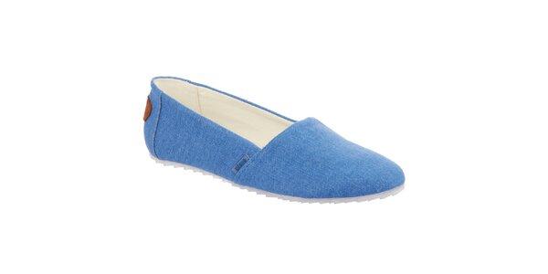 Dámske modré nazúvacie topánky Keddo