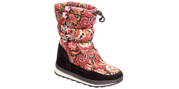 Dámske farebne vzorované topánky Keddo
