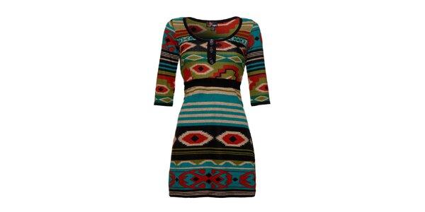 Dámske farebné indiánske šaty Yumi