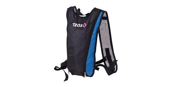 Čierny hydro ruksak s modrými prvkami Izas