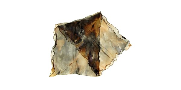 Dámska šedo-hnedá hodvábna šatka Fraas