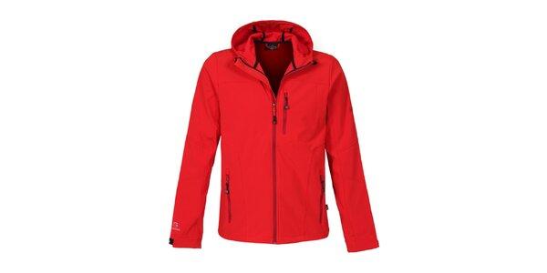 Pánska červená softshellová bunda Bergson