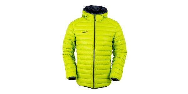 Pánska limetkovo zelená páperová bunda s kapucňou Izas