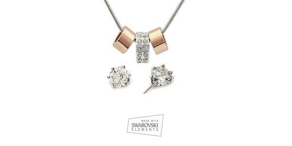 Dámska sada šperkov Swarovski Elements - náušnice a náhrdelník