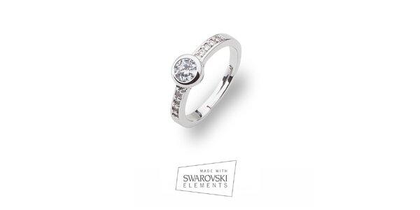 Dámsky prsteň s nastaviteľným priemerom Swarovski Elements