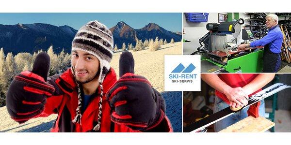 Rýchly servis lyží a snowboardov