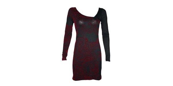 Dámske šedo-červené šaty Smash