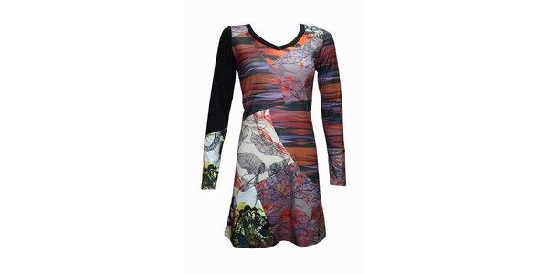 Dámske pestrofarebné šaty Smash s potlačou