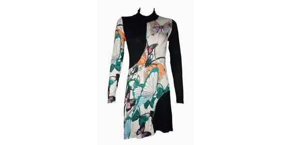 Dámske pestrofarebné šaty Smash s motýľmi