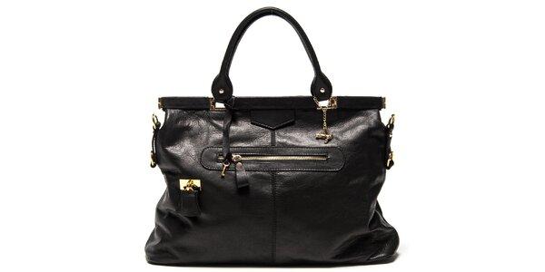 Dámska čierna kabelka s magnetickým zapínaním Luisa Vannini