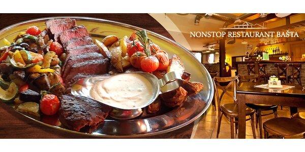 Delikátne flank steak menu pre 2 osoby