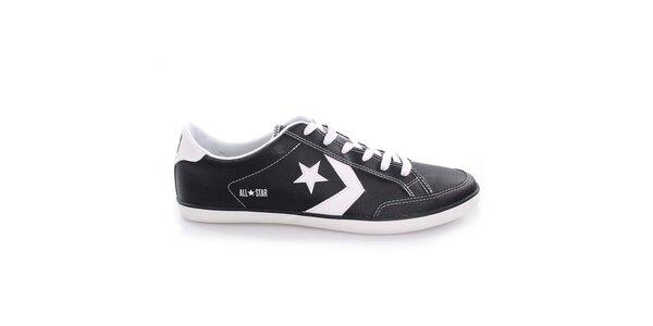 Pánske čierno-biele nízke topánky Converse