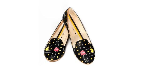 Dámske čierne loafers The Bees