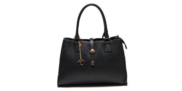 Dámska čierna kabelka so zlatými detailmi Renata Corsi