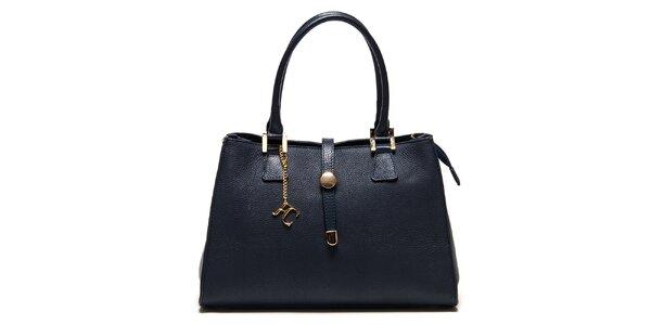 Dámska modrá kabelka so zlatými detailmi Renata Corsi
